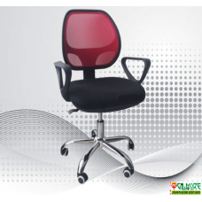 Office Mesh Chair Black / Red C-8178